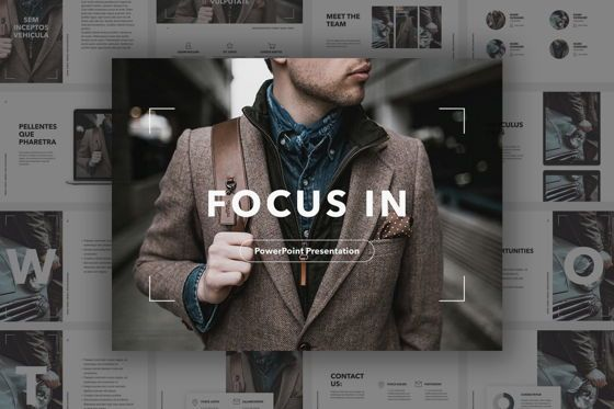 Presentation Templates: Focus In PowerPoint Template #05640