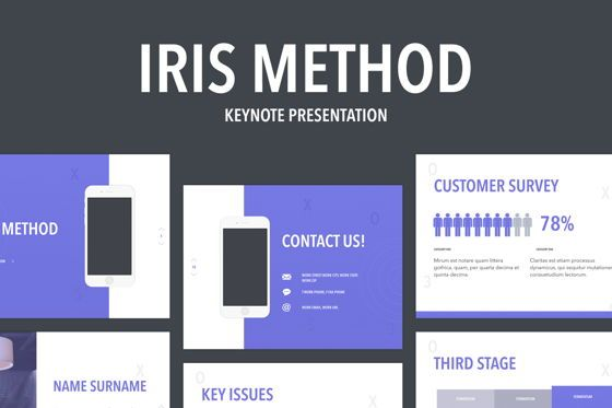 Infographics: Iris Method Keynote Template #05643