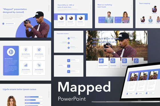 Presentation Templates: Mapped PowerPoint Template #05644