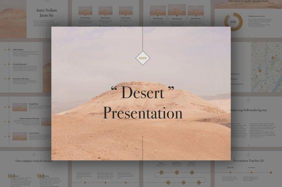 Presentation Templates: Desert Keynote Template #05646