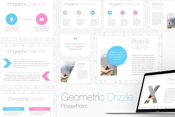 Presentation Templates: Geometric Drizzle PowerPoint Template #05648