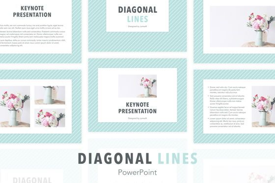 Presentation Templates: Diagonal Lines PowerPoint Template #05649
