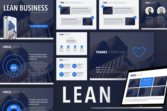Infographics: Lean PowerPoint Template #05650