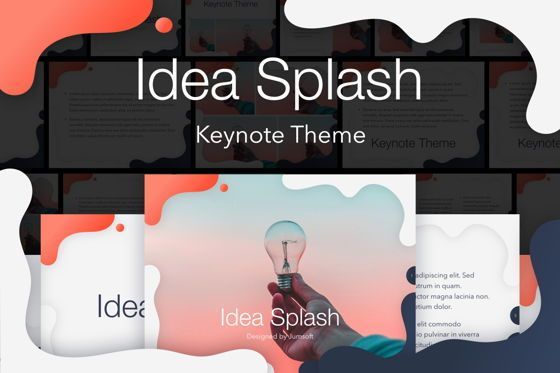 Presentation Templates: Idea Splash Keynote Template #05655