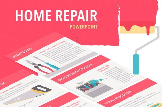 Presentation Templates: Flat Tools PowerPoint Template #05657