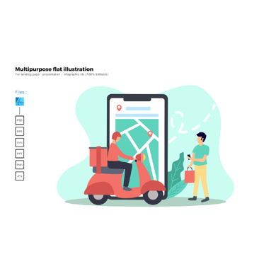 Infographics: Multipurpose modern flat illustration design pickup #05659