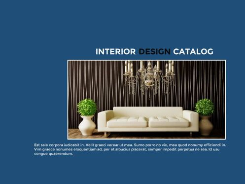 Presentation Templates: Interior Design Catalog Presentation #05665