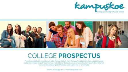 Presentation Templates: College University Prospectus Presentation #05666