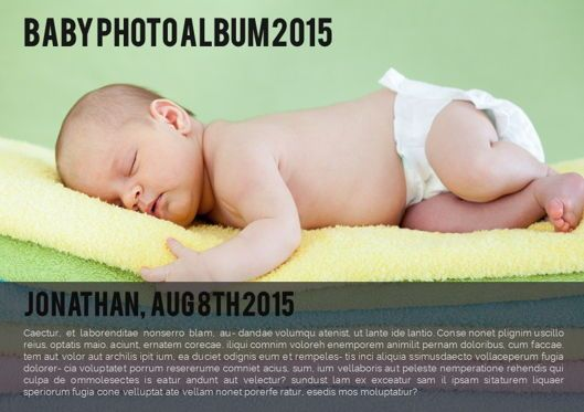 Presentation Templates: Baby Photo Album Presentation #05670