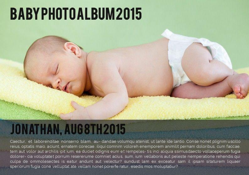 Baby Photo Album Presentation, 05670, Presentation Templates — PoweredTemplate.com