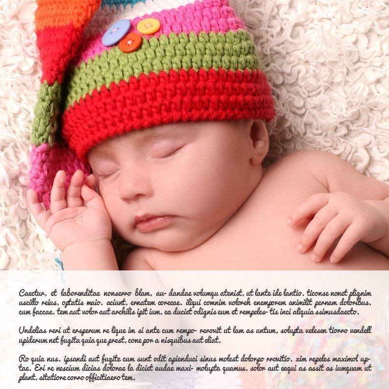 Baby Photo Album Presentation, Slide 13, 05670, Presentation Templates — PoweredTemplate.com