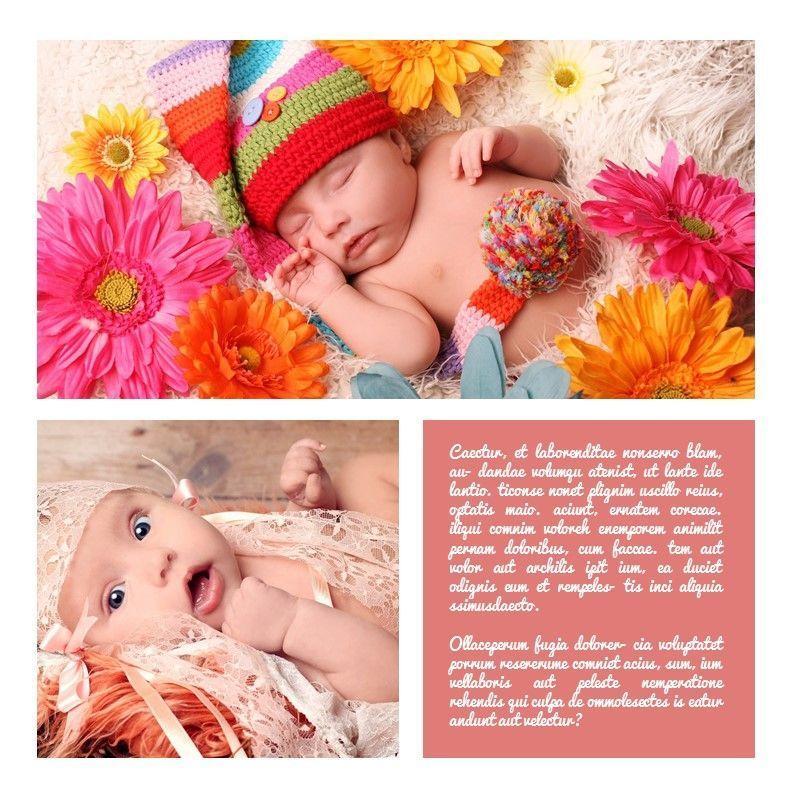 Baby Photo Album Presentation, Slide 18, 05670, Presentation Templates — PoweredTemplate.com