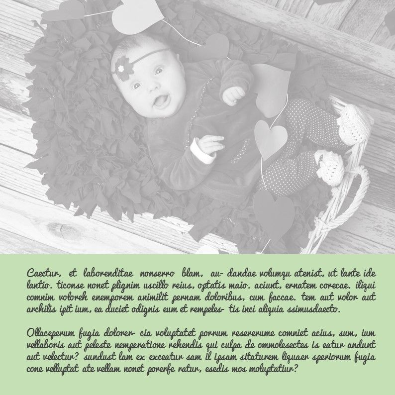 Baby Photo Album Presentation, Slide 19, 05670, Presentation Templates — PoweredTemplate.com