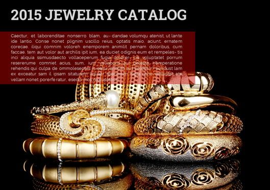 Presentation Templates: Jewelry Catalog Presentation Template #05671