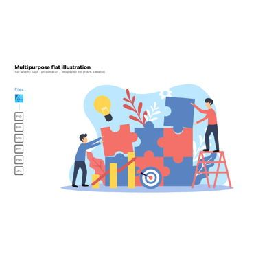 Infographics: Multipurpose modern flat illustration design problem solving #05674