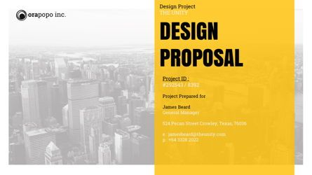 Presentation Templates: Studio Design Proposal Presentation #05676