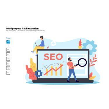 Business Models: Multipurpose modern flat illustration design seo #05678