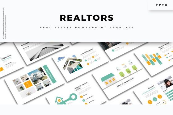Business Models: Realtors Real Estate PowerPoint Template #05687