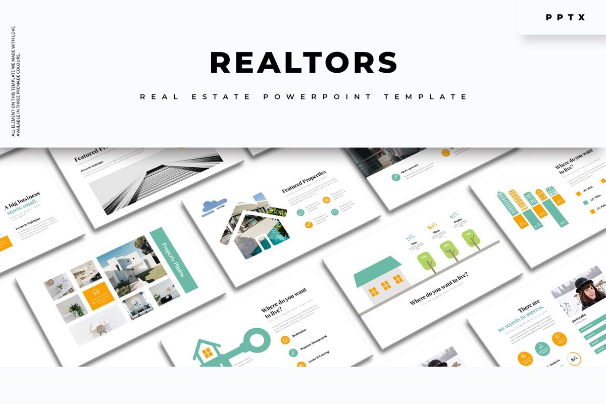 Realtors Real Estate PowerPoint Template, 05687, Business Models — PoweredTemplate.com