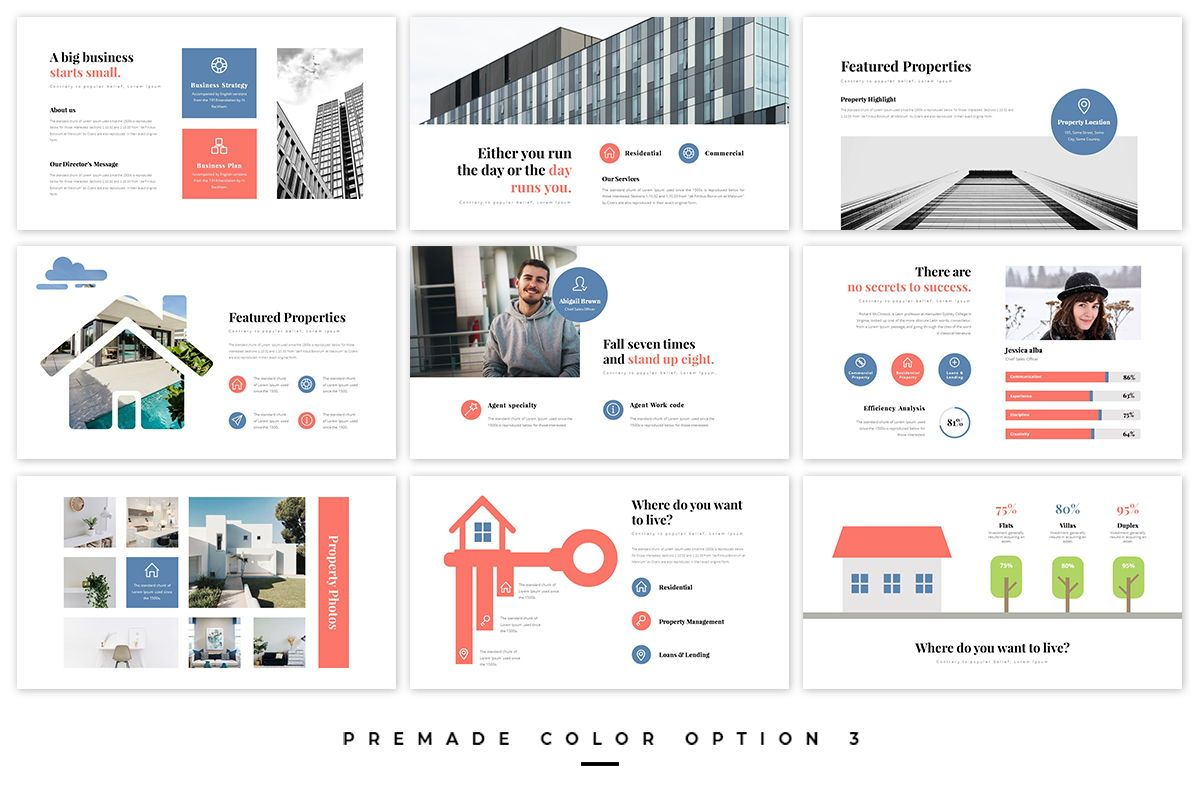 Realtors Real Estate PowerPoint Template, Slide 3, 05687, Business Models — PoweredTemplate.com