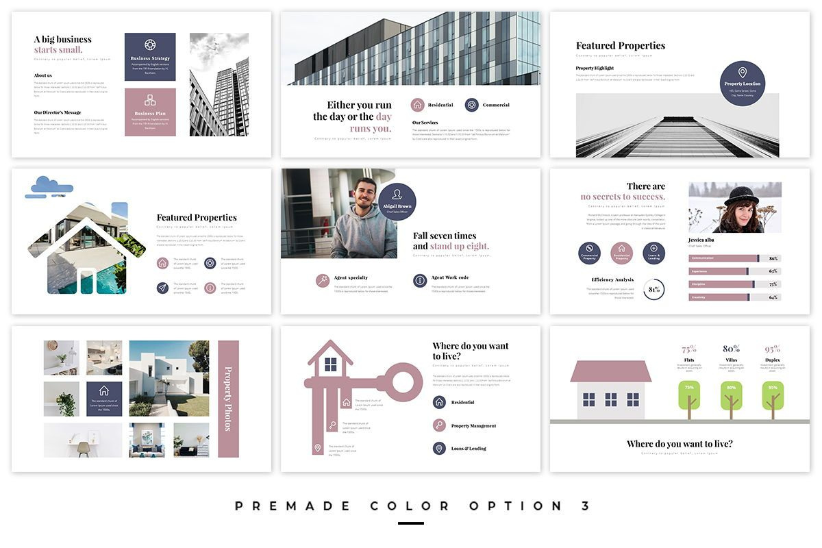 Realtors Real Estate PowerPoint Template, Slide 4, 05687, Business Models — PoweredTemplate.com