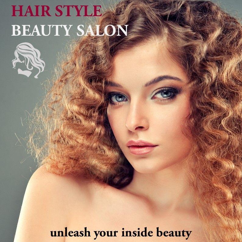 Hair Styles Beauty Salon Portfolio, 05693, Presentation Templates — PoweredTemplate.com