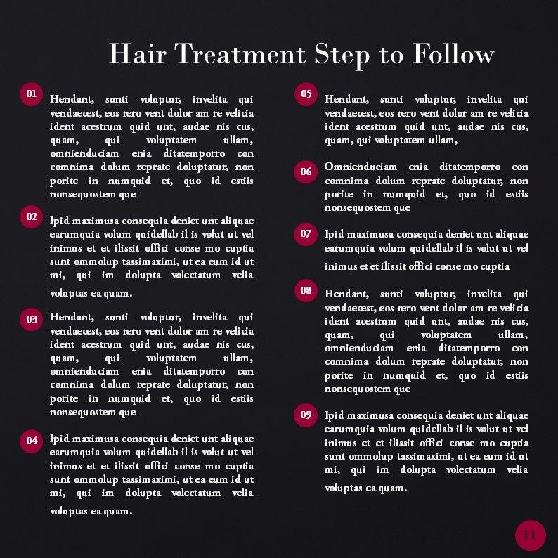 Hair Styles Beauty Salon Portfolio, Slide 11, 05693, Presentation Templates — PoweredTemplate.com