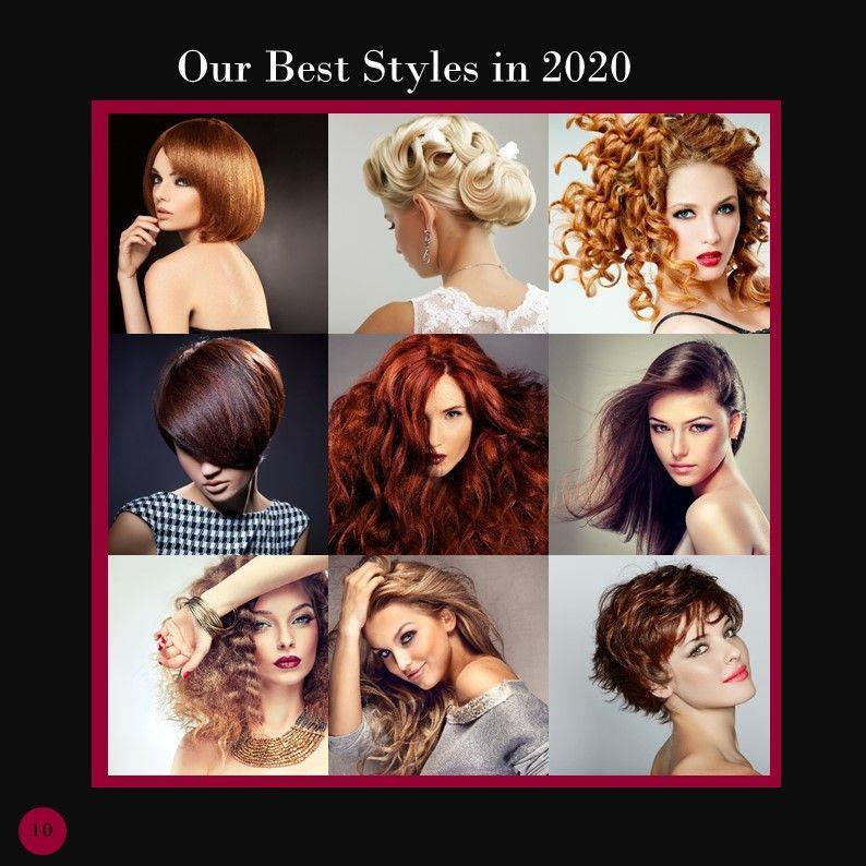 Hair Styles Beauty Salon Portfolio, Slide 12, 05693, Presentation Templates — PoweredTemplate.com