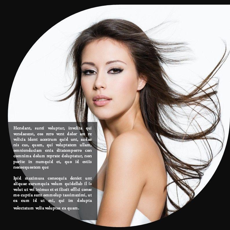 Hair Styles Beauty Salon Portfolio, Slide 13, 05693, Presentation Templates — PoweredTemplate.com