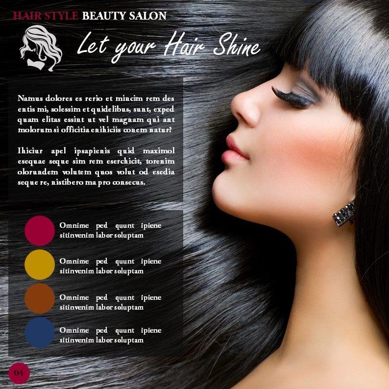 Hair Styles Beauty Salon Portfolio, Slide 4, 05693, Presentation Templates — PoweredTemplate.com