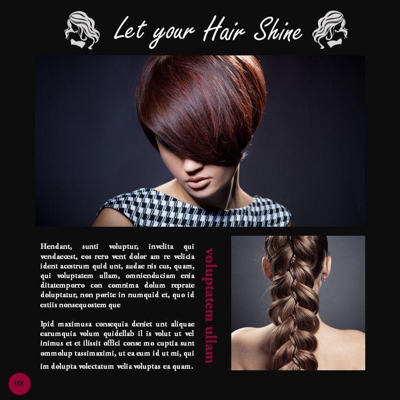 Hair Styles Beauty Salon Portfolio, Slide 8, 05693, Presentation Templates — PoweredTemplate.com