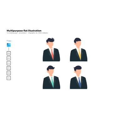 Business Models: Multipurpose modern flat illustration design business man suite #05694