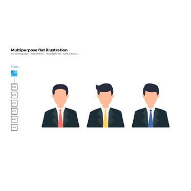 Business Models: Multipurpose modern flat illustration design business man #05695