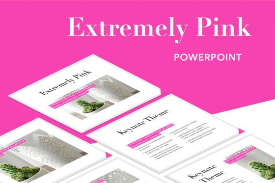 Presentation Templates: Extremely Pink PowerPoint Template #05698