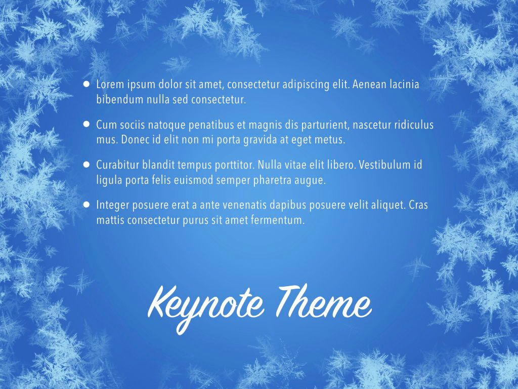 Hello Winter Keynote Template, Slide 11, 05700, Presentation Templates — PoweredTemplate.com