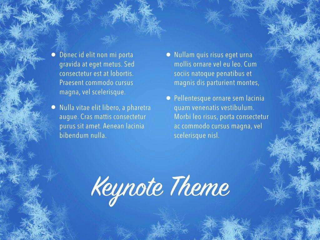 Hello Winter Keynote Template, Slide 12, 05700, Presentation Templates — PoweredTemplate.com