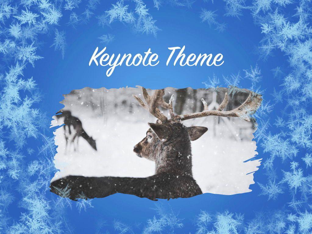 Hello Winter Keynote Template, Slide 15, 05700, Presentation Templates — PoweredTemplate.com