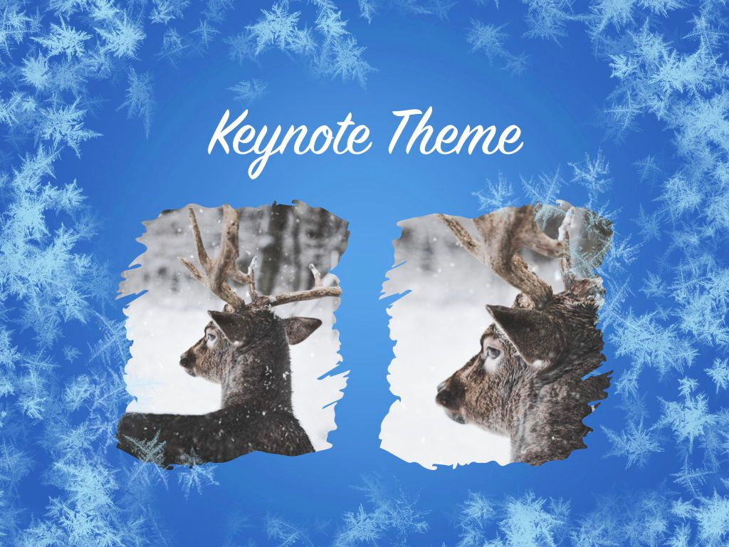 Hello Winter Keynote Template, Slide 16, 05700, Presentation Templates — PoweredTemplate.com