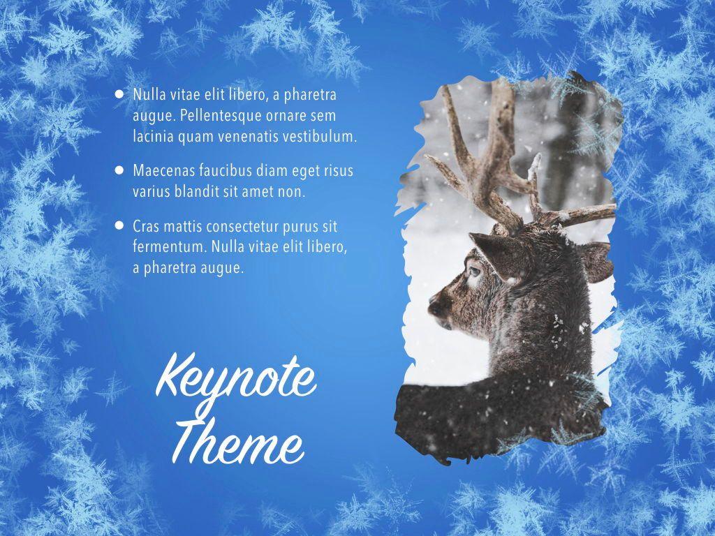 Hello Winter Keynote Template, Slide 19, 05700, Presentation Templates — PoweredTemplate.com
