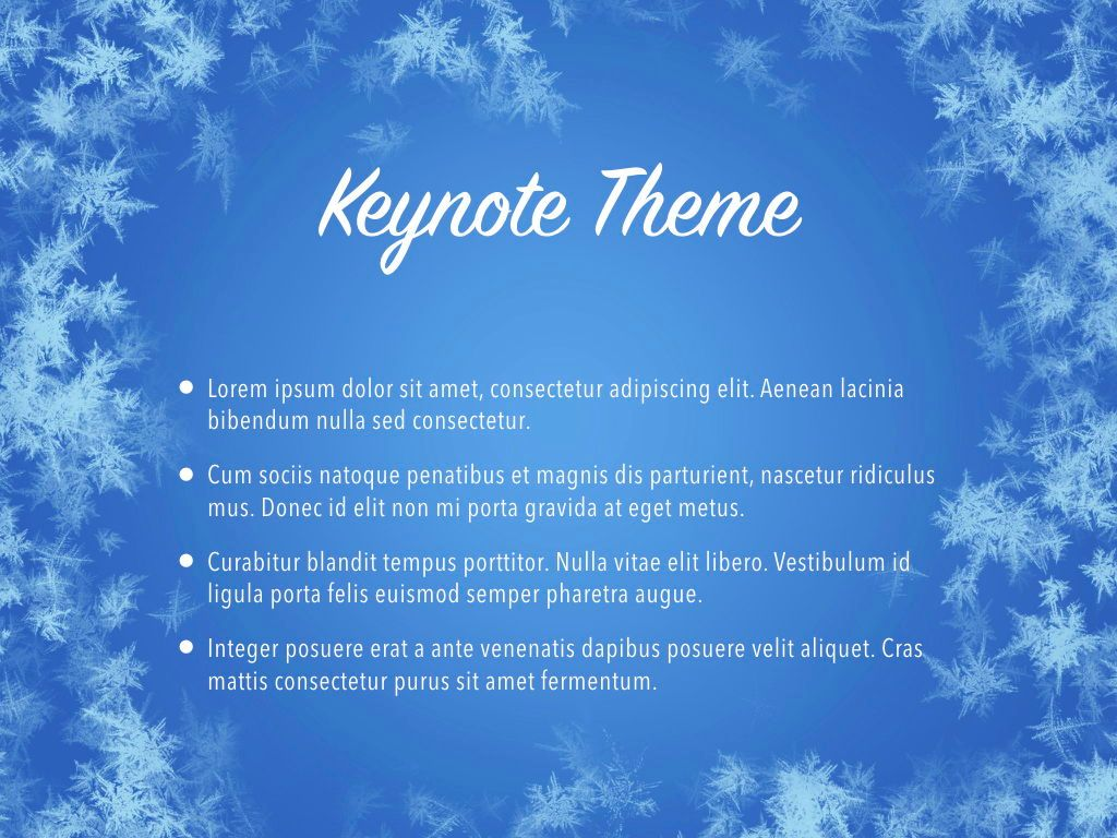 Hello Winter Keynote Template, Slide 3, 05700, Presentation Templates — PoweredTemplate.com