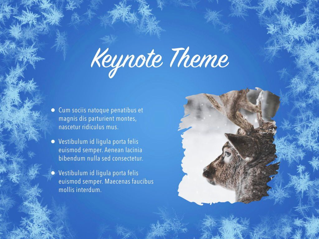 Hello Winter Keynote Template, Slide 30, 05700, Presentation Templates — PoweredTemplate.com
