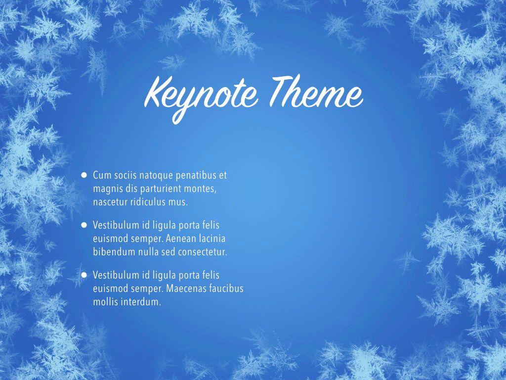 Hello Winter Keynote Template, Slide 32, 05700, Presentation Templates — PoweredTemplate.com