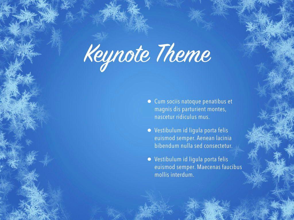 Hello Winter Keynote Template, Slide 33, 05700, Presentation Templates — PoweredTemplate.com