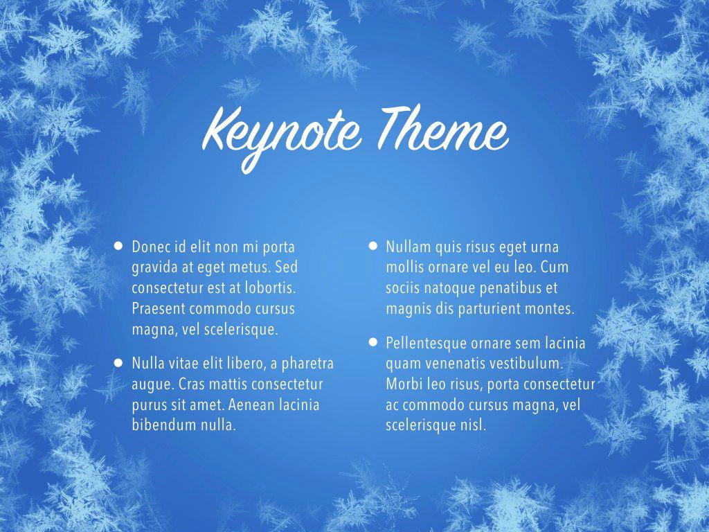 Hello Winter Keynote Template, Slide 4, 05700, Presentation Templates — PoweredTemplate.com