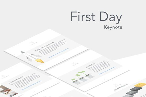 Presentation Templates: First Day Keynote Template #05701