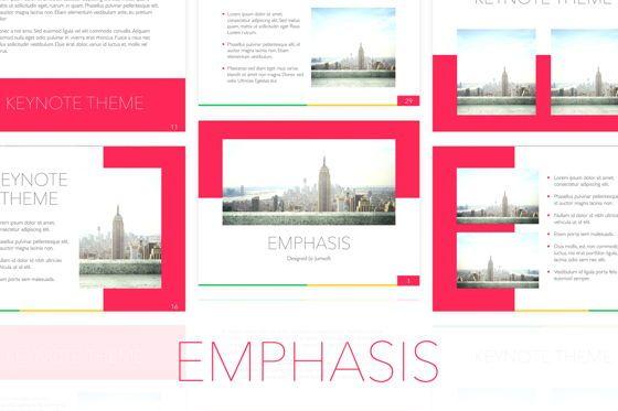 Presentation Templates: Emphasis Keynote Template #05702