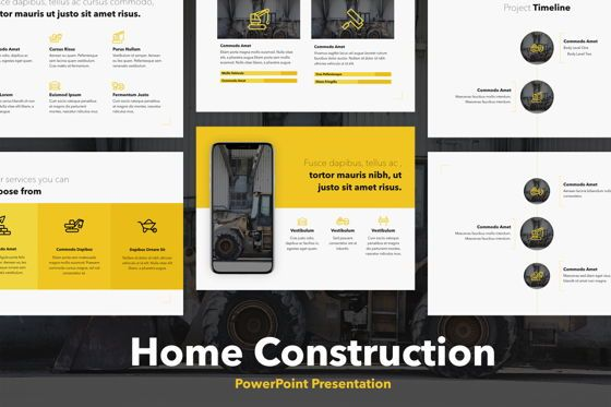 Presentation Templates: Home Construction PowerPoint Template #05704