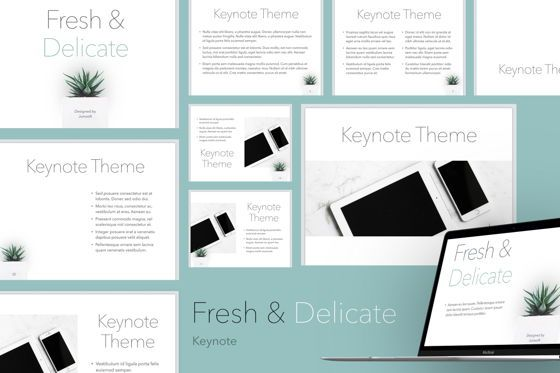 Presentation Templates: Fresh and Delicate Keynote Template #05705