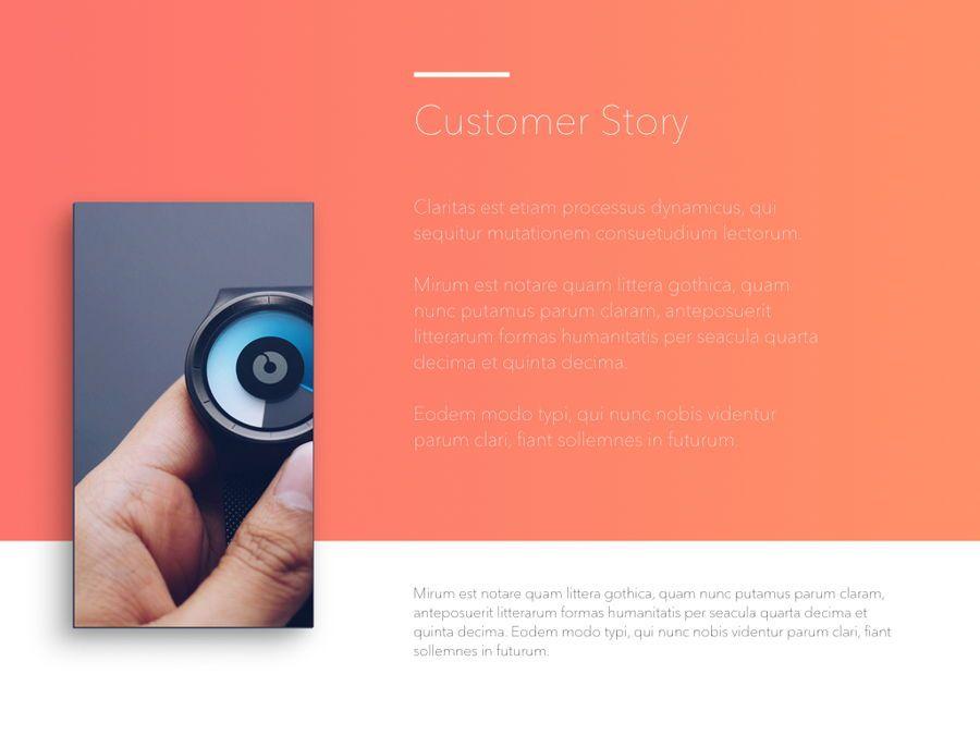 Minimal Gradient PowerPoint Template, Slide 18, 05708, Presentation Templates — PoweredTemplate.com