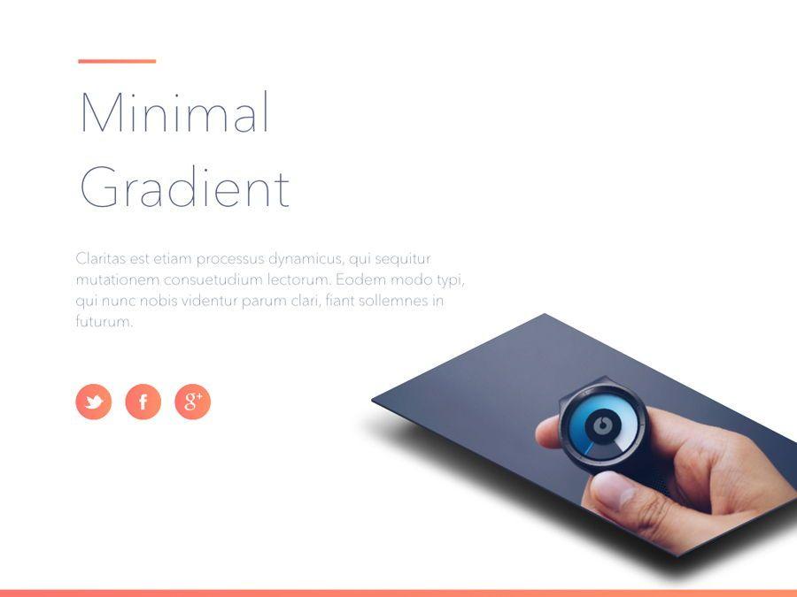 Minimal Gradient PowerPoint Template, Slide 2, 05708, Presentation Templates — PoweredTemplate.com